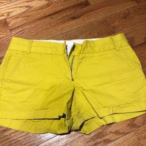 Chartreuse Jcrew short